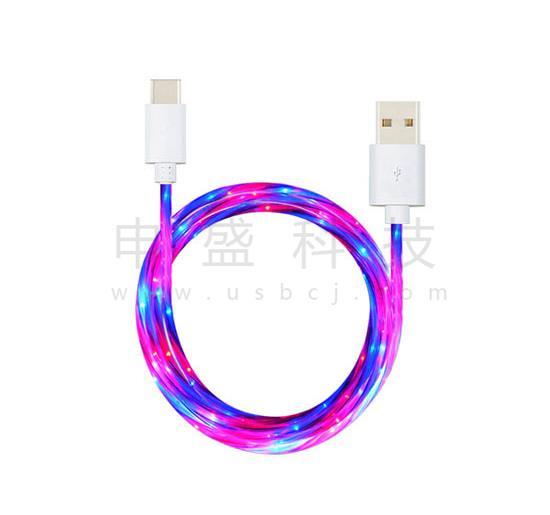发光充电线_冷光线_流光充电线直销可定制