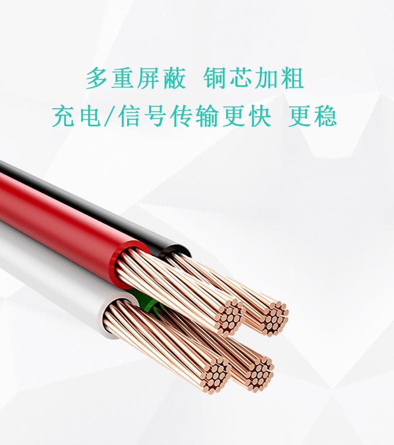5A快充充电线厂家加粗纤芯