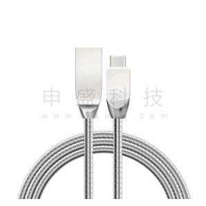 Type-c锌合金弹簧线批发可定制